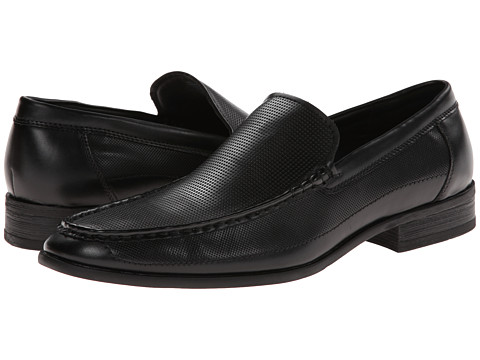 Kenneth Cole Unlisted - Room 4 Rent (Black Synthetic) Men's Slip-on Dress Shoes