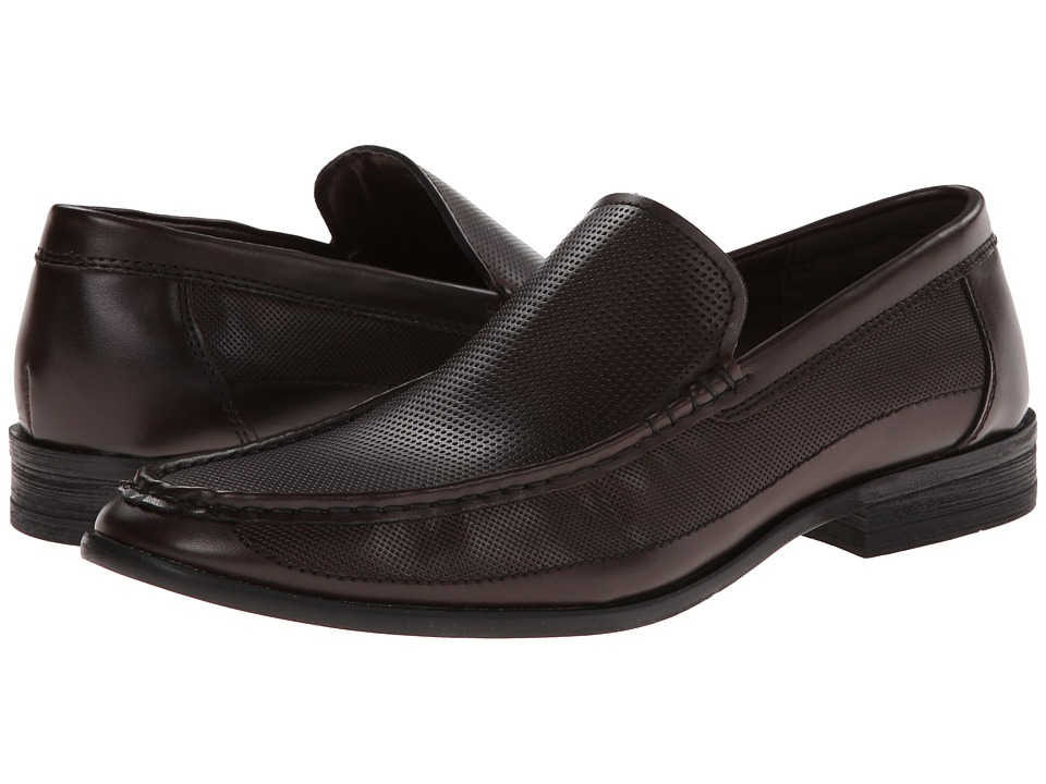 Kenneth Cole Unlisted - Room 4 Rent (Dark Brown Synthetic) Men's Slip-on Dress Shoes