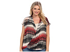 DKNY Jeans Plus Size Tiki Stripe Wrap Blouse