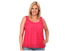 DKNY Jeans Plus Size Lace Mix Tank (Punch)