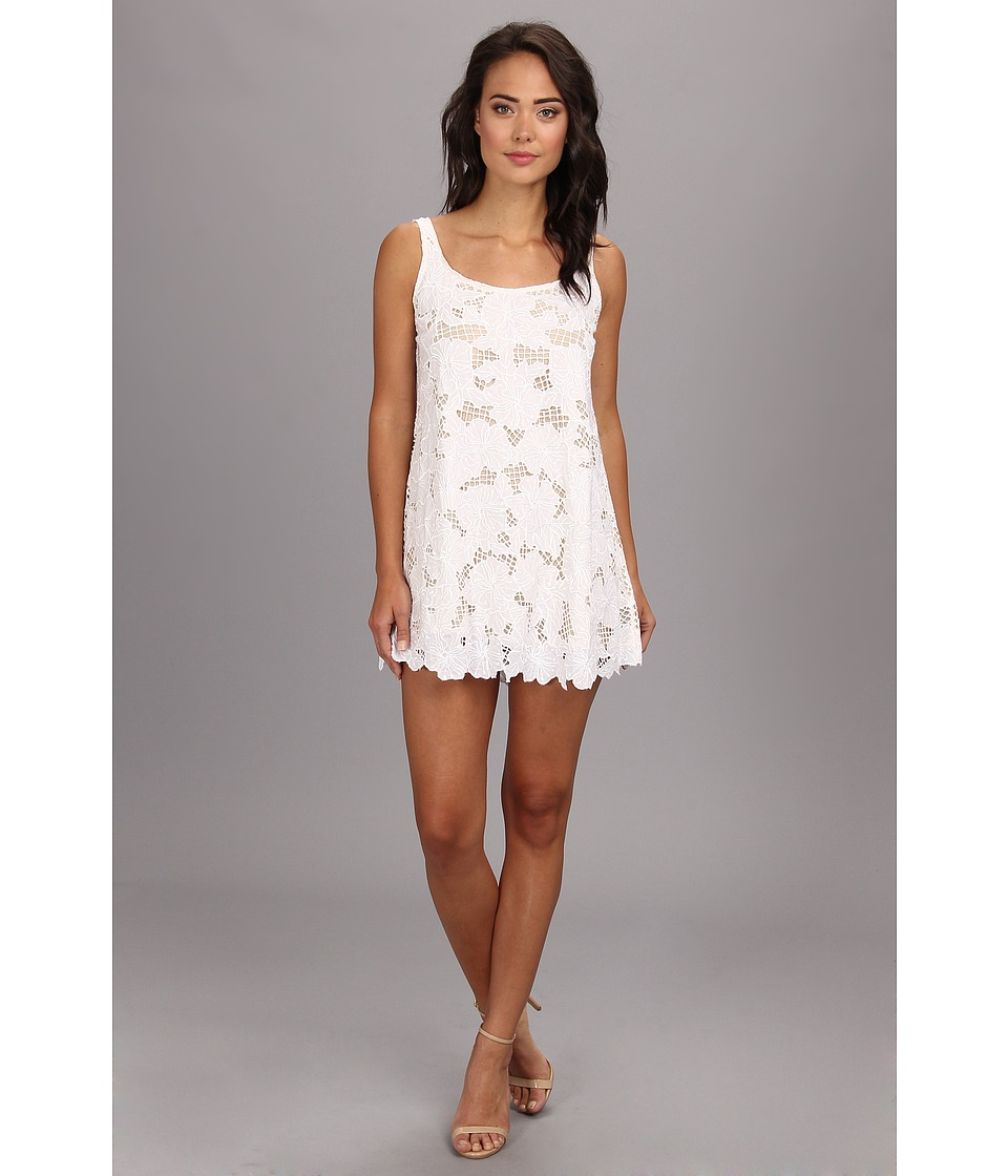 KAS New York - Loretta Cutwork Tunic Dress (White) Women's Dress
