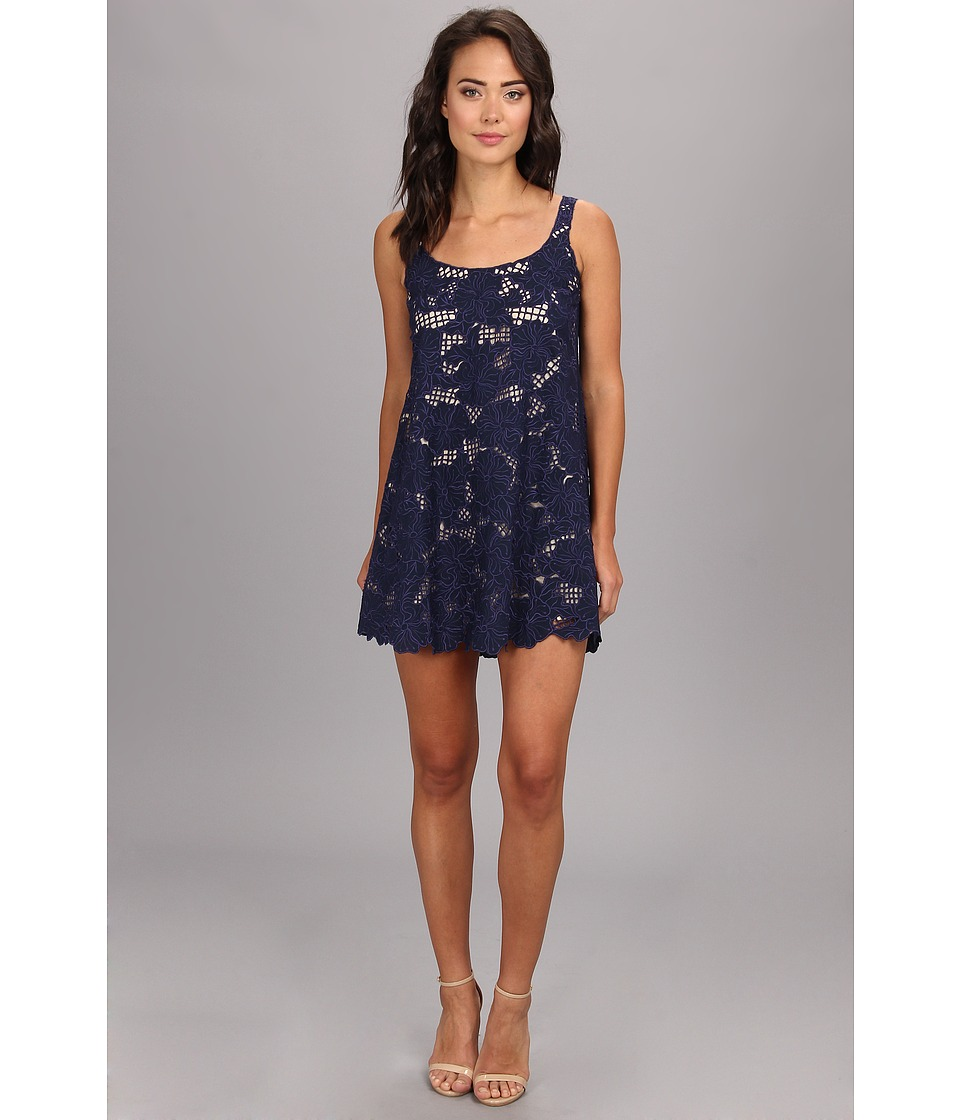 KAS New York - Loretta Cutwork Tunic Dress (Navy) Women's Dress