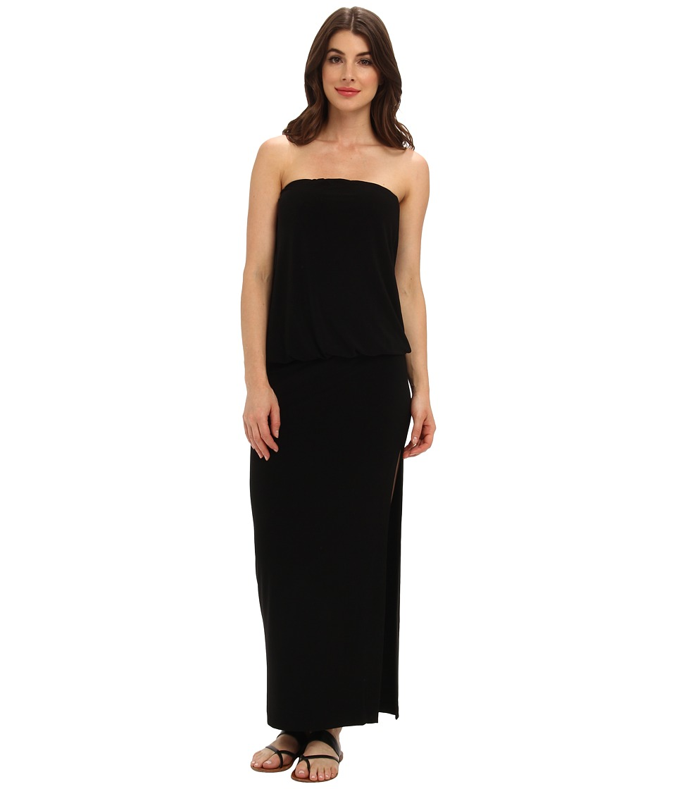 KAMALIKULTURE by Norma Kamali - Strapless Babydoll Maxi Gown (Solid Black) Women's Dress