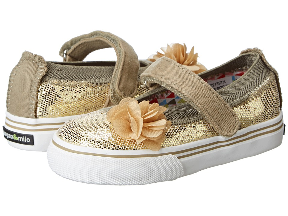 Morgan&Milo Kids - Dazzle Glitter MJ (Toddler/Little Kid) (Gold) Girls Shoes