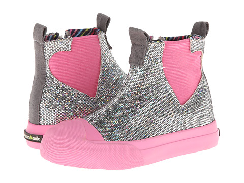 Morgan&Milo Kids - Blake Heart Bootie (Gravel Grey) Girls Shoes