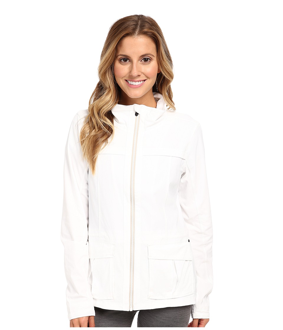 Lole - Postcard Zip Jacket (White) Women's Coat
