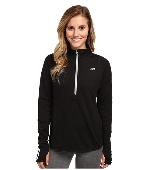 New Balance - Heat Up Quarter Zip (Black) Women's Sweatshirt