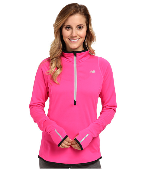 New Balance - Heat Up Quarter Zip (Pink Glo) Women's Sweatshirt