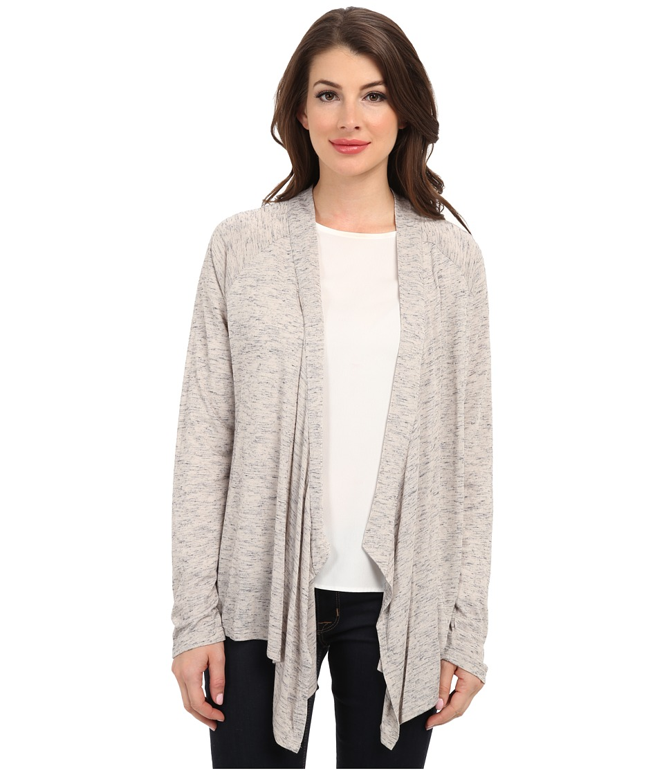 TWO by Vince Camuto - Melange Jersey Drape Front Cardigan (Tan Melange) Women's Sweater
