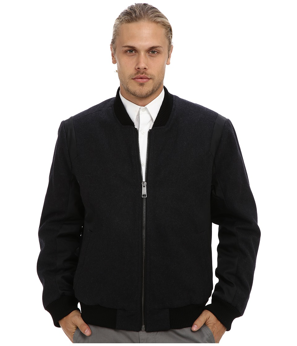 Marc New York by Andrew Marc - Keane Bomber Jacket (Charcoal) Men's Clothing