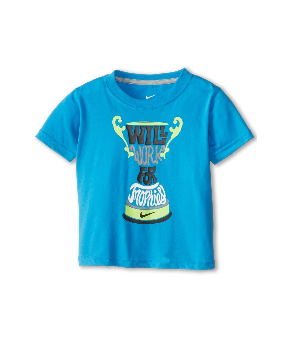 Nike Kids - Will Work for Trophies Tee (Toddler) (Vivid Blue) Girl's Short Sleeve Pullover