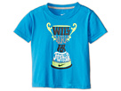 Nike Kids Will Work for Trophies Tee (Toddler) (Vivid Blue) Girl's Short Sleeve Pullover