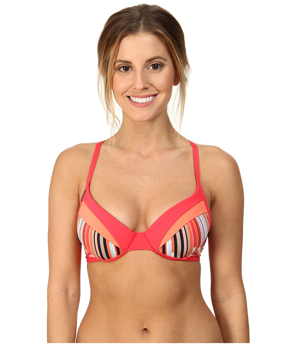 Lole - Kapiti Underwire Top (B-Cup) (Nougat Multi-Stripe) Women's Swimwear