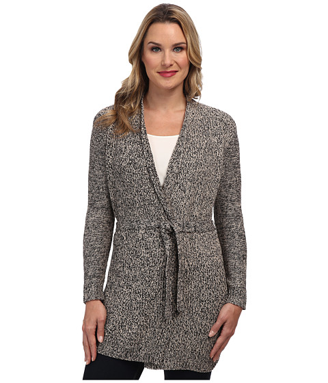 TWO by Vince Camuto - Mixed Stitch Belted Wrap Cardigan (Doe) Women