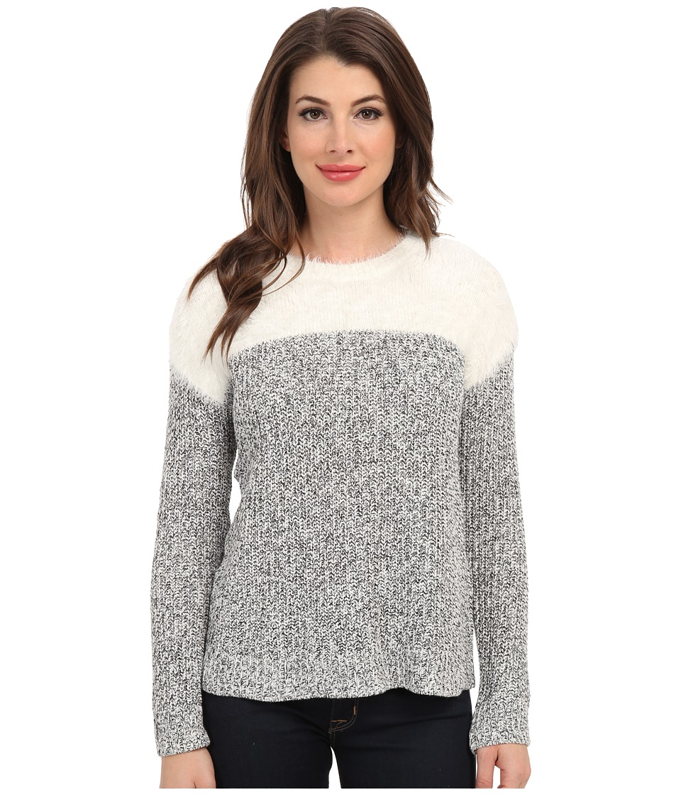 TWO by Vince Camuto - L/S Marled Sweater w/ Eyelash Yoke (Light Cream) Women's Sweater