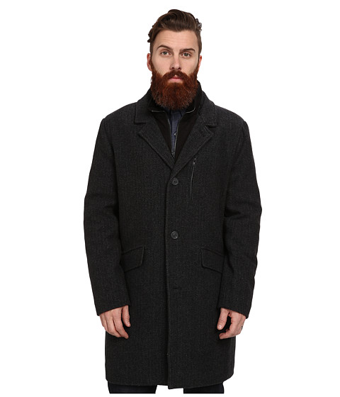 Marc New York by Andrew Marc - Holt Coat (Grey/Black) Men's Coat