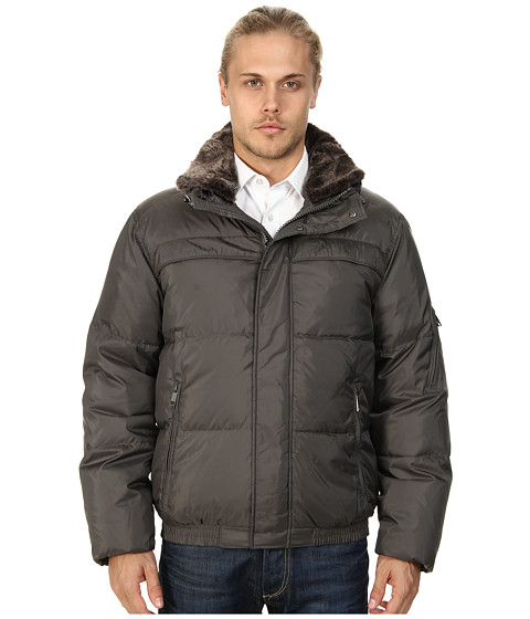 Marc New York by Andrew Marc - Fauxmula Down Jacket (Gunmetal) Men's Coat