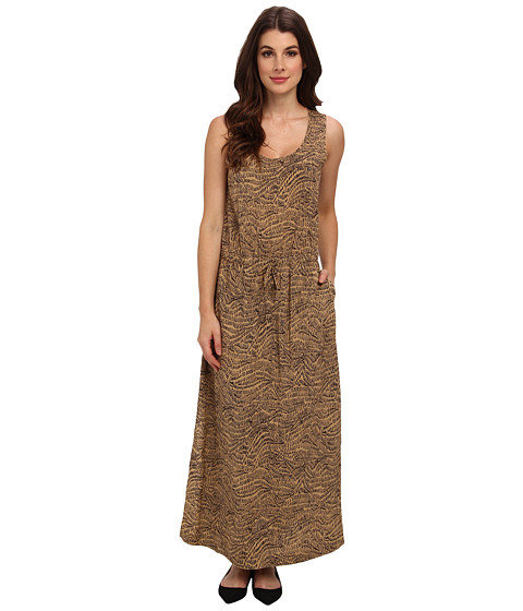 TWO by Vince Camuto - Dodge Stripe Squiggle Graphic Maxi Dress (New Camel) Women