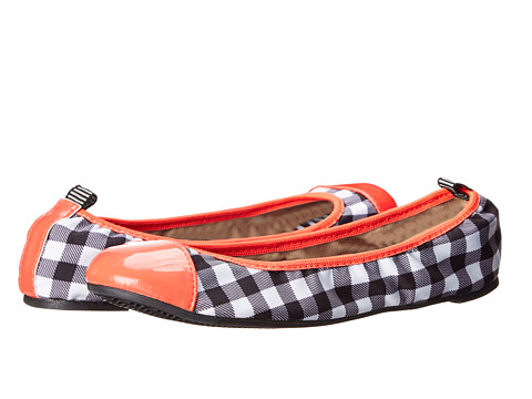 DV8 - Scrunchie (Checker Print Canvas) Women's Flat Shoes