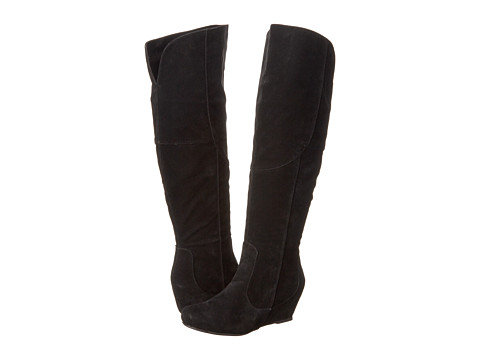 Diba - Kick It In (Black Imitation Suede) Women's Boots