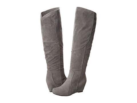 Diba - Kick It In (Grey Imitation Suede) Women's Boots