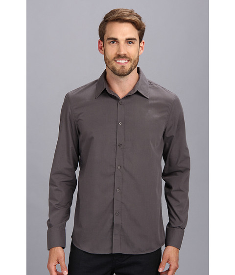 Sovereign Code - Roxbury L/S Shirt (Charcoal) Men's Long Sleeve Button Up