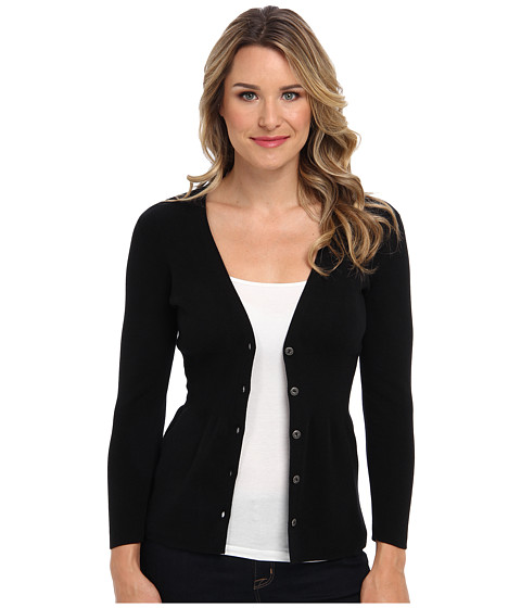 NIC+ZOE - Back of the Chair Cardy (Black Onyx 3) Women