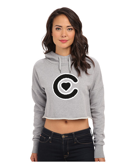 Crooks & Castles - Knit Cropped Hoodie - Luxe Bandit (Heather Grey) Women