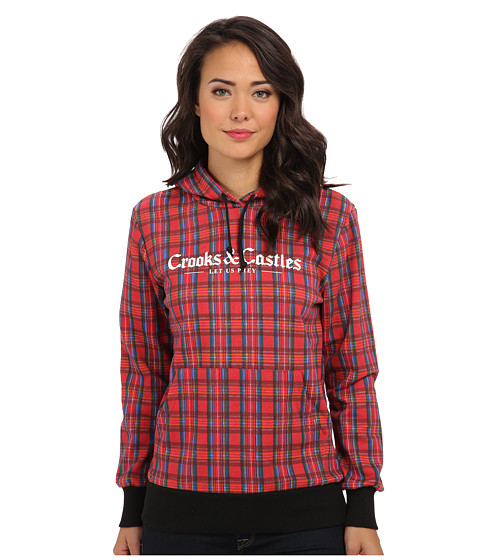 Crooks & Castles - Knit Hooded Pullover - Bird Trap (Tartan Plaid) Women's Sweatshirt