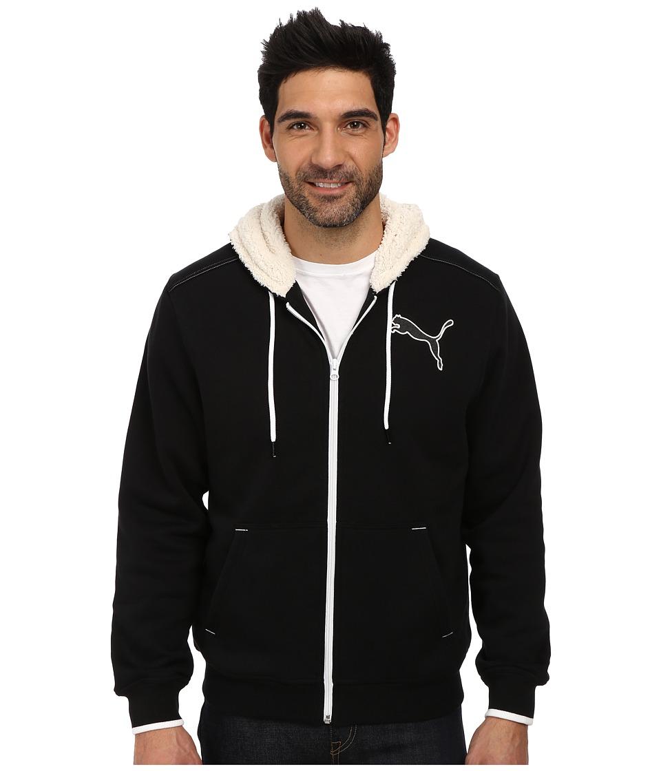 PUMA - Sherpa Hoodie (Black) Men's Sweatshirt