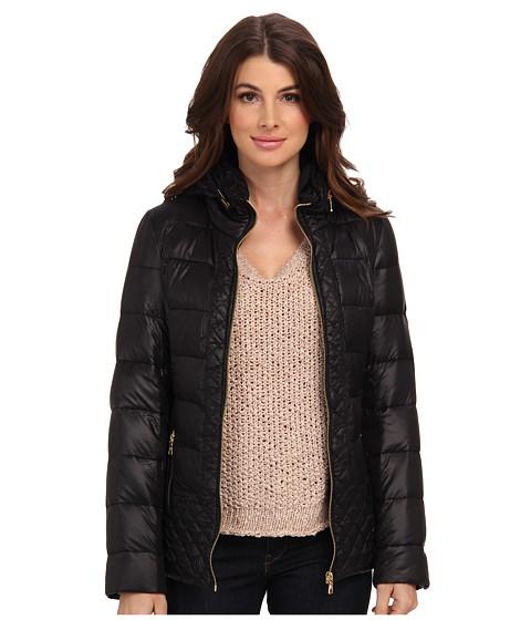 Sam Edelman - Loren Packable Hood Coat w/ Velvet Trim (Amarente) Women's Coat