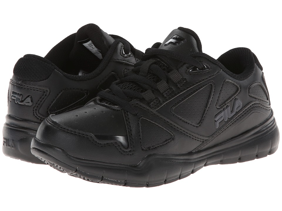 Fila Kids - Side-By-Side (Little Kid/Big Kid) (Black/Black/Black) Kids Shoes