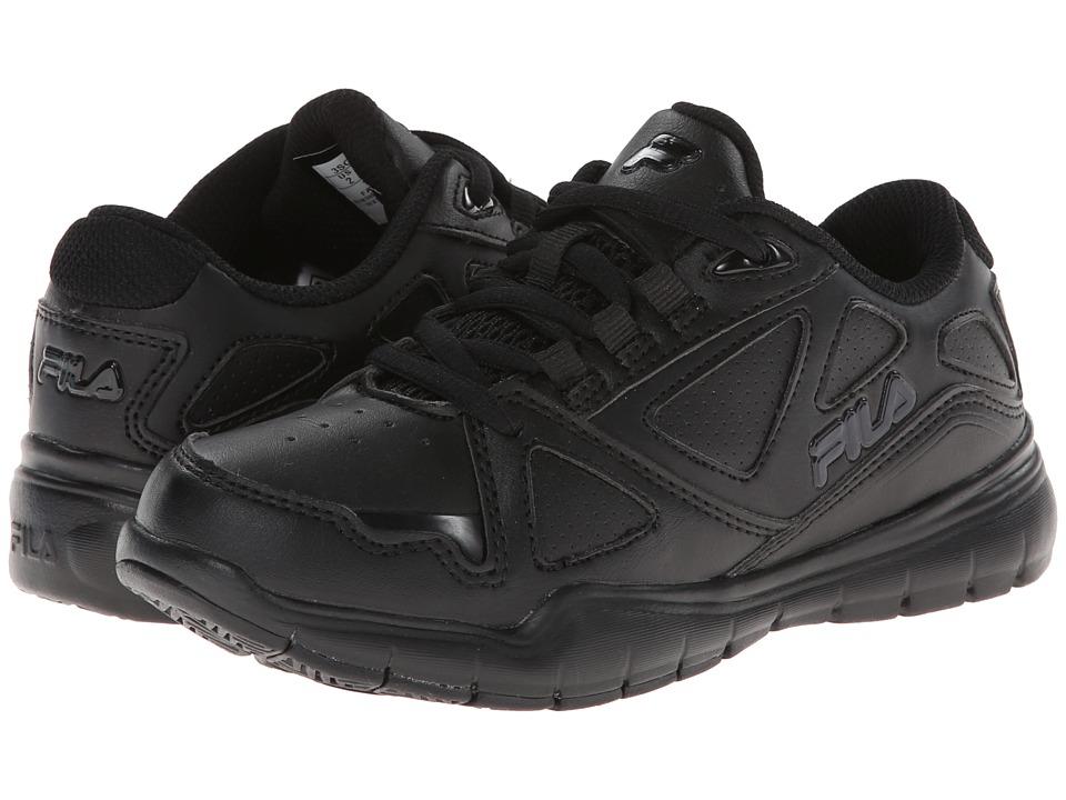 Fila Kids - Side-By-Side (Little Kid/Big Kid) (Black/Black/Black) Kids Shoes