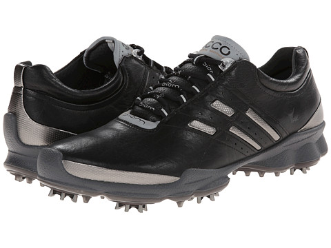ECCO Golf - Biom Golf (Black/Steel) Men's Golf Shoes