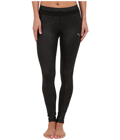 PUMA - Gym Long Tight (Black/Metallic) Women