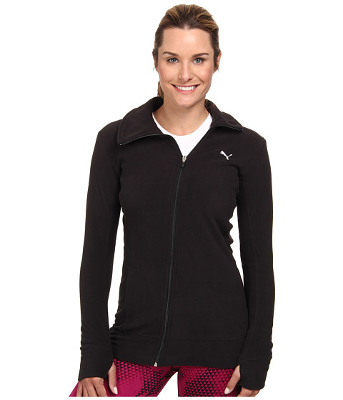 PUMA - Gym Microfleece Cover Up (Black) Women's Coat