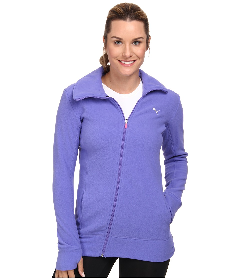 PUMA - Gym Microfleece Cover Up (Blue Iris) Women's Coat