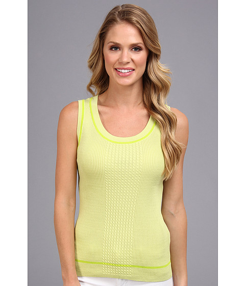 Jones New York - Crew Neck Shell (Sorbet/Lime Twist) Women's Sleeveless
