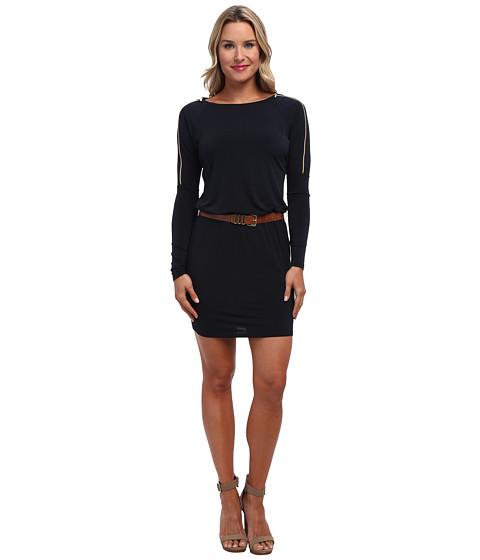 MICHAEL Michael Kors - Overarm Zip Dress (New Navy) Women