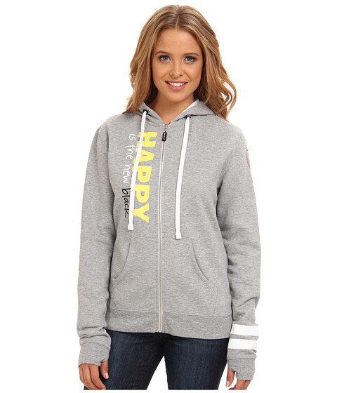 Peace Love World - Zip Up Hoodie (Heather) Women