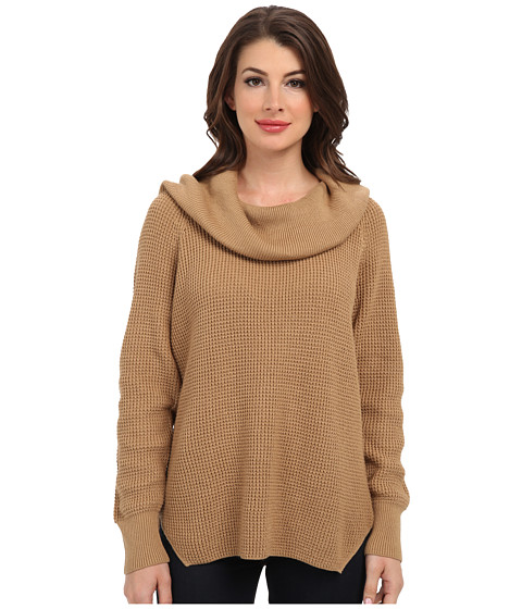 MICHAEL Michael Kors - Cowl Neck Sweater (Dark Camel) Women's Sweater