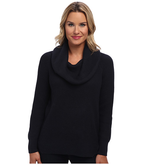 MICHAEL Michael Kors - Cowl Neck Sweater (New Navy) Women
