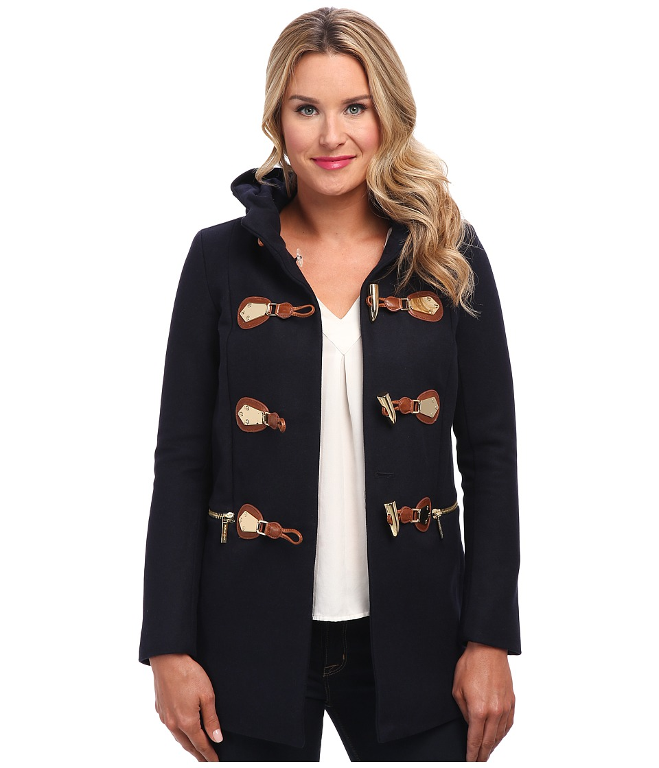 MICHAEL Michael Kors - Long Duffle Coat (New Navy) Women's Coat