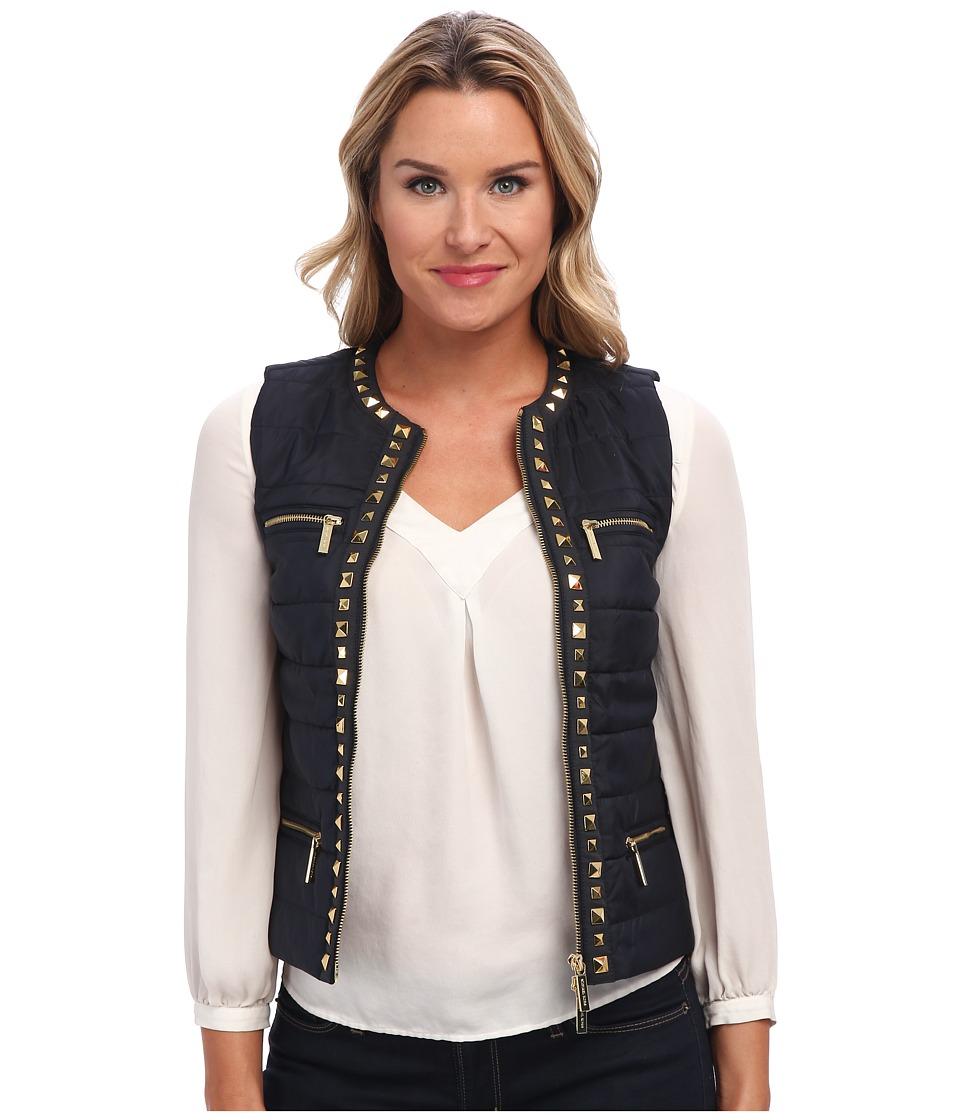 MICHAEL Michael Kors - Stud DTL Puffer Vest (New Navy) Women