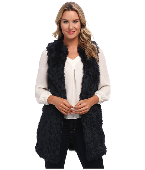 MICHAEL Michael Kors - Faux Fur Vest (New Navy) Women's Vest