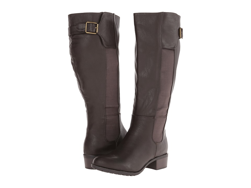 Fitzwell - Benton Wide Calf (Cocoa) Women's Wide Shaft Boots