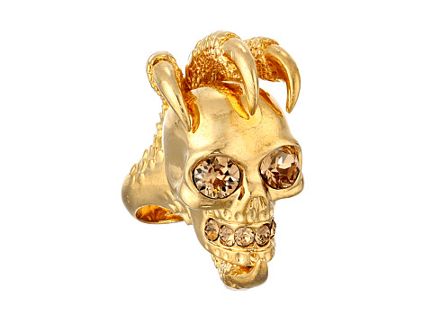 Alexander McQueen - Large Claw Skull Ring (Light Colorado Topaz) Ring