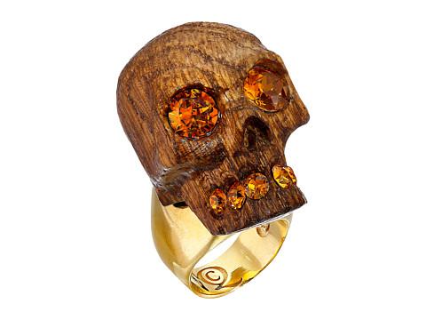 Alexander McQueen - Owl Skull Ring (Topaz) Ring
