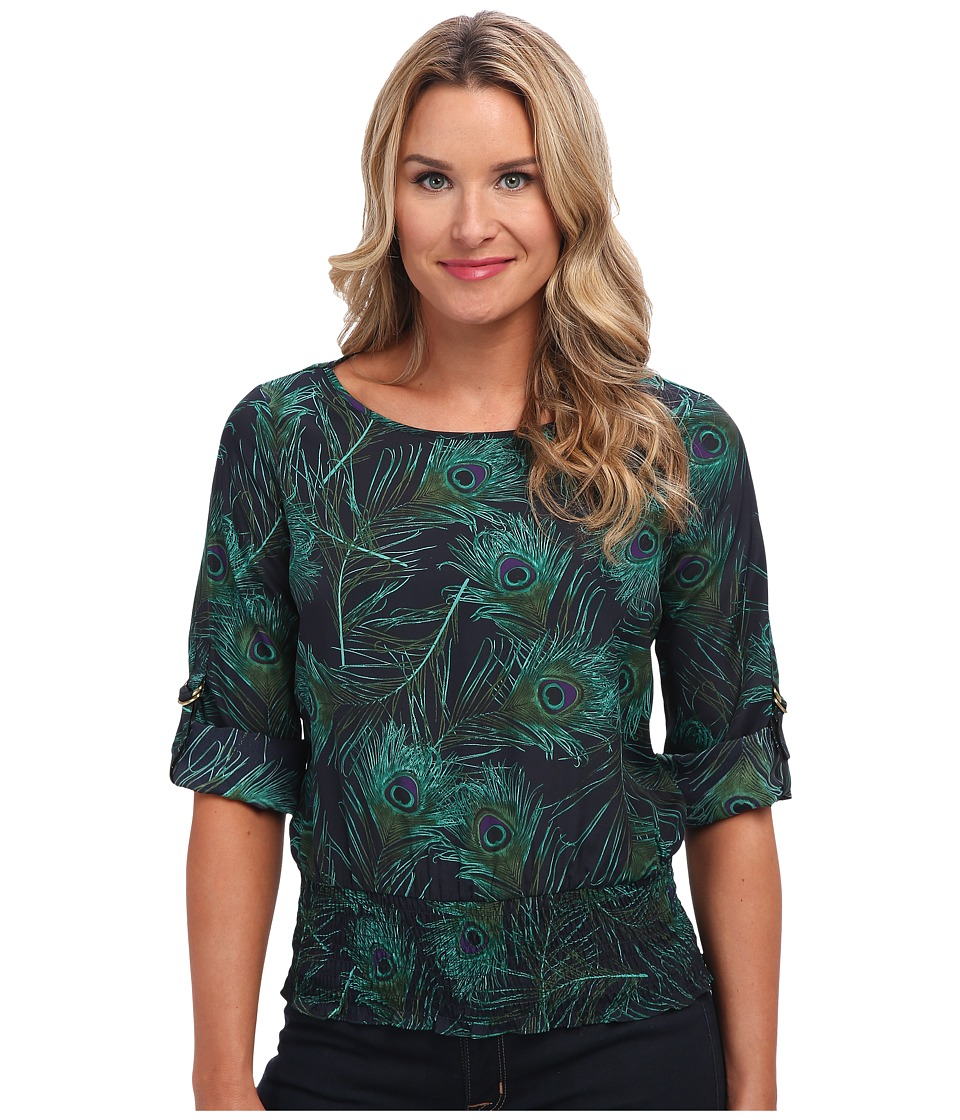 MICHAEL Michael Kors - Sloane Kimono Top (New Navy) Women