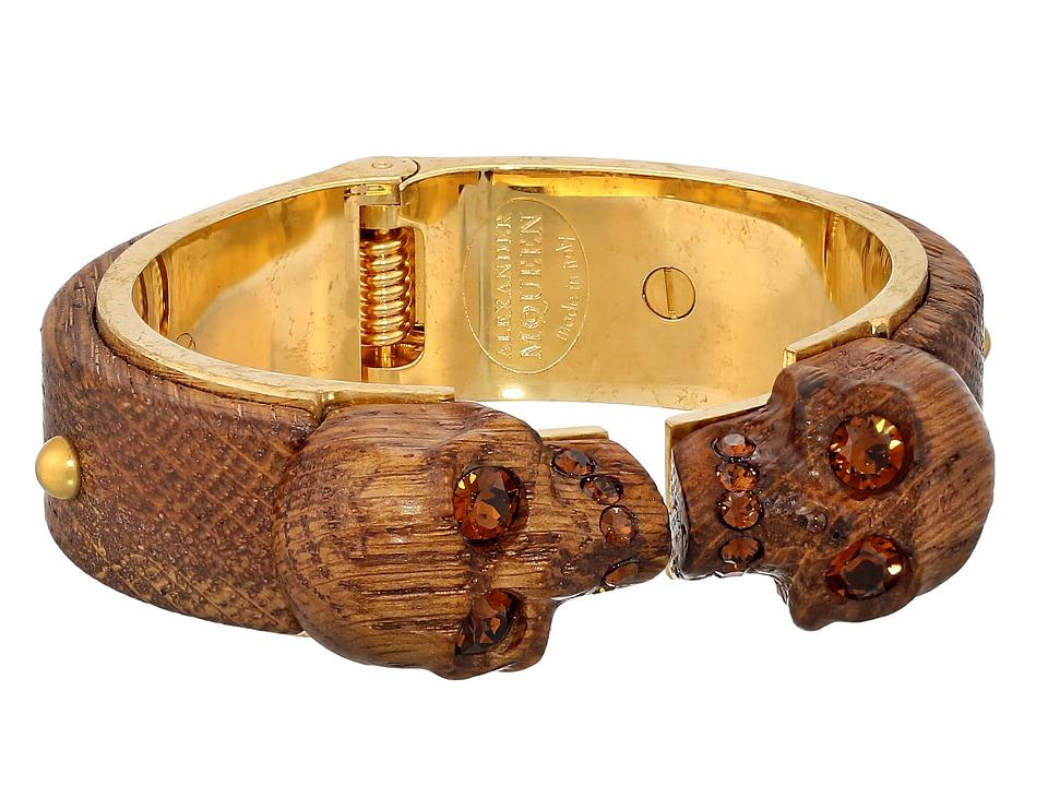 Alexander McQueen - Wood Skull Bracelet (Topaz) Bracelet